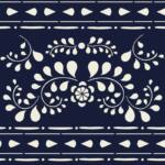 AS - FAUX BONE INLAY stencil