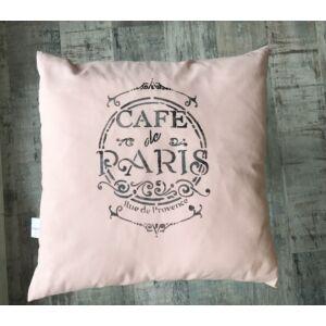 Rózsaszín Cafe de Paris párna