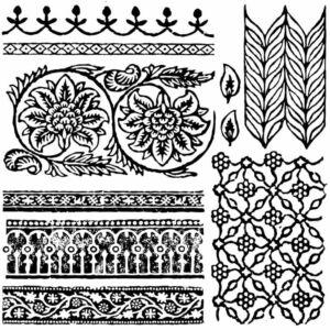 BOHEMIA 30,5x30,5 CM - dekor pecsét