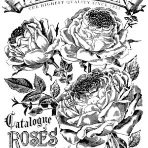 IOD - CATALOGUE OF ROSES 61x83cm festhető bútortranszfer