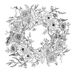 IOD - WINTER'S SONG WREATH 61x61cm festhető bútortranszfer