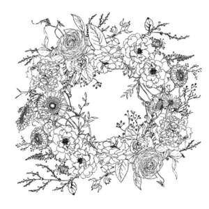 IOD - WINTER'S SONG WREATH 61x61cm festhető bútortranszfer