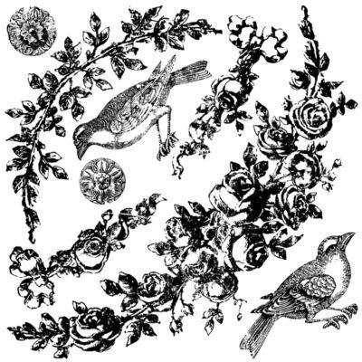 IOD FLORAL SWAGS 30X30 CM - dekor pecsét