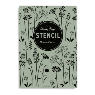 annie sloan meadow flowers stencil
