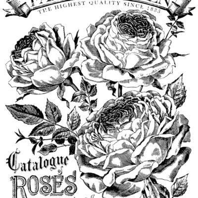 IOD - CATALOGUE OF ROSES 61x83cm festhető bútortranszfer